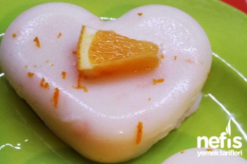 Portakallı Muhallebi Tarifi 19