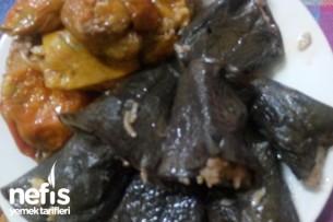 Sumaklı Kuru Patlıcan Ve Biber Dolması