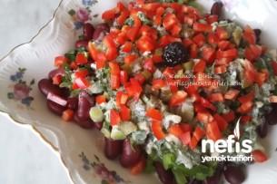 Meksika Fasulyesi Salatası (Tahinli) Tarifi