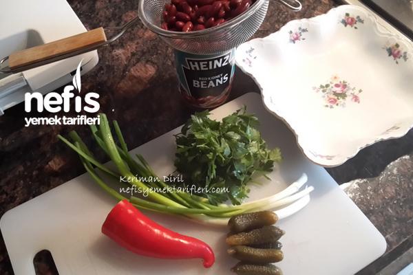 Meksika Fasulyesi Salatası (Tahinli) 3