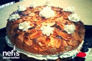 File Bademli Ballı Pasta Tarifi