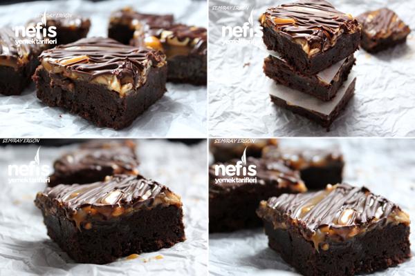 Yer Fıstıklı Karamelli Brownie 2