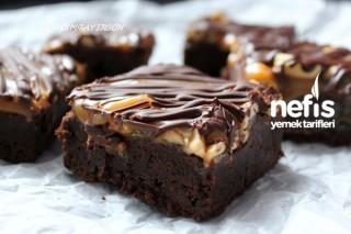 Yer Fıstıklı Karamelli Brownie 6