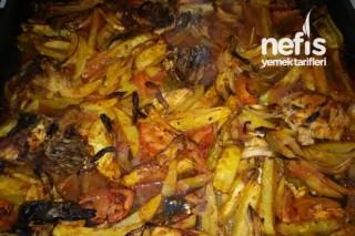 Tavuk Etli Fırında Patates Tarifi
