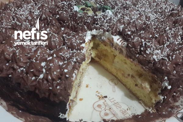 Muzlu Yaş Pasta ( Pandispanya Tarifi İle) 5
