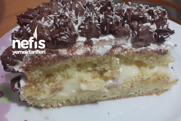 Muzlu Yaş Pasta ( Pandispanya Tarifi İle) 6