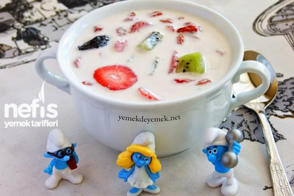 Meyveli Süt Çorbası Tarifi