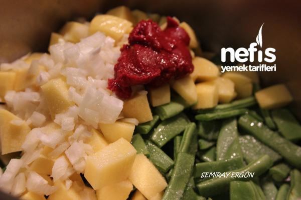 Patatesli Taze Fasulye Yemeği 2