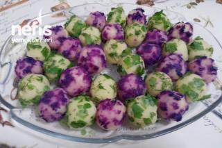 Renkli Tereyağlı Patates Topları Tarifi