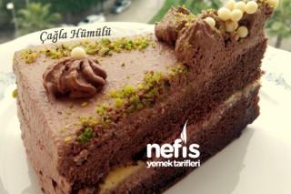 Kremalı Muzlu Yaş Pasta (Pandispanya Tarifiyle)