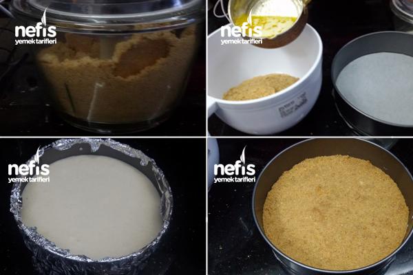 Ananas Soslu Cheesecake