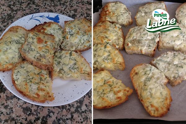 Labneli Sarımsaklı Ekmek 2