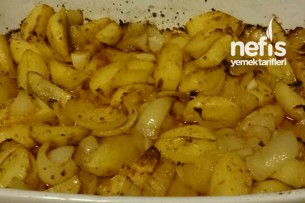 Fırında Leziz Soğanlı Patates Tarifi