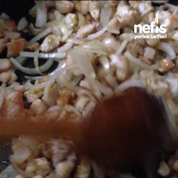 Sebzeli Mantarlı Tavuk Sote Tarifi 3