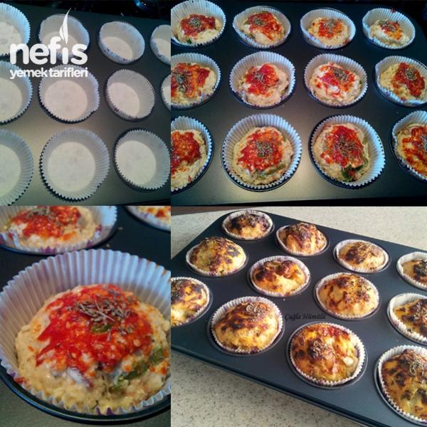 Kekikli Muffin Pizza Yapımı 2