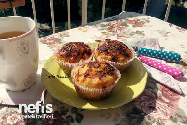 Kekikli Muffin Pizza Yapımı 4