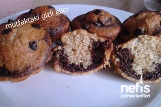 İki Renkli Mini Kekler (samla Çikolatalı) Tarifi