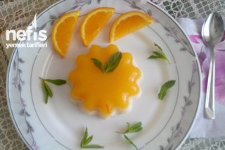 Portakal Pelteli Sütlü İrmik Tatlısı Tarifi