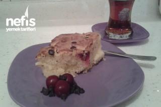 Vişneli Damla Çikolatalı Yumuşacık Kek Tarifi