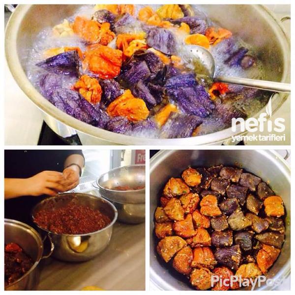 Antep Usulü Kuru Biber Ve Patlıcan Dolması 1