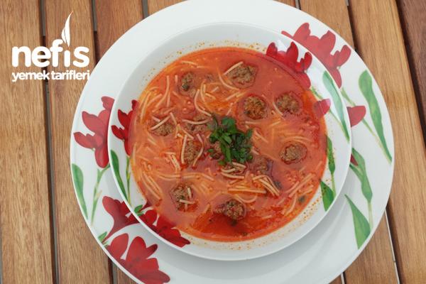 Minik Köfteli Tel Şehriye Çorbası Tarifi