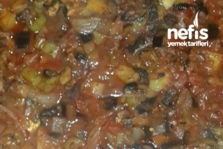 Fırında Mantar Patlıcan Et Sote Tarifi