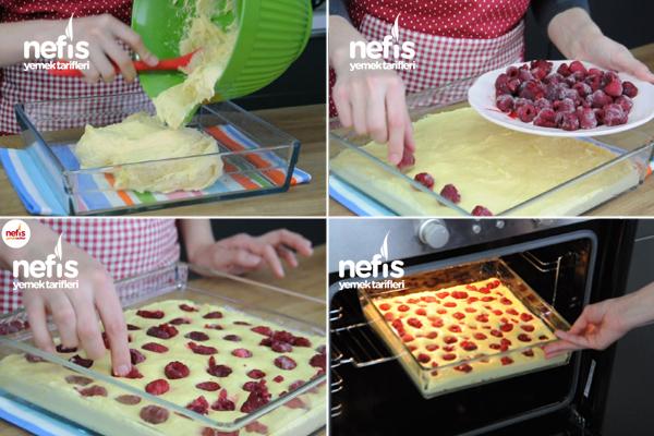 Frambuazlı Kek Tarifi 1