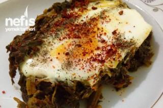 Yumurtalı Ispanak Kavurması Yapımı Tarifi