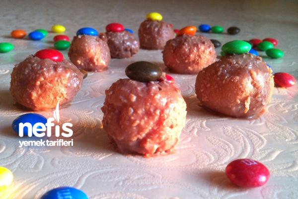 Çikolatalı Bademli İrmik Topları 4