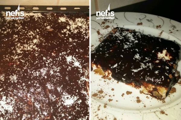 Çikolata Soslu Etimek Tatlısı Tarifi 5
