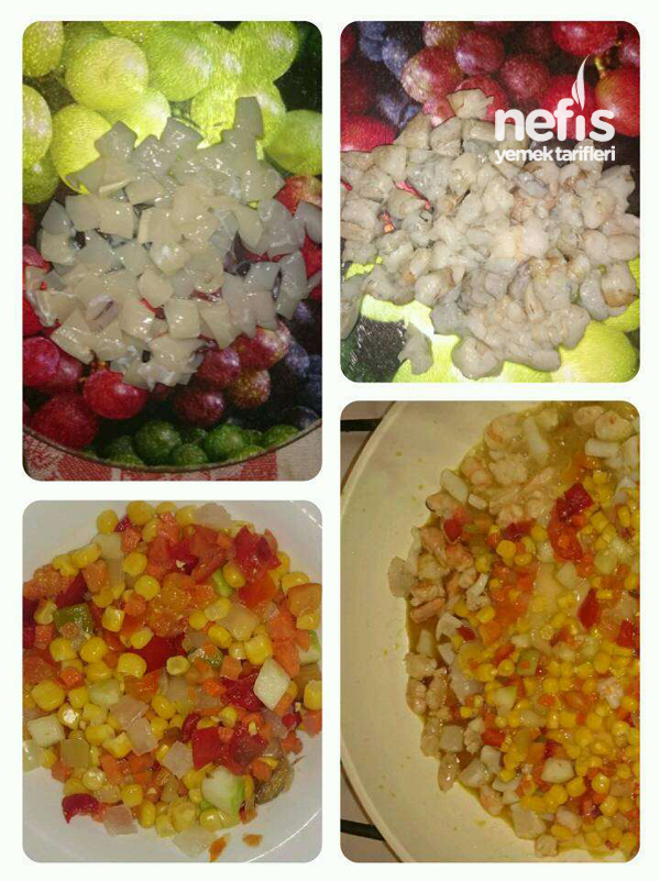 Deniz Ürünlü Sebzeli Japon Pilavı