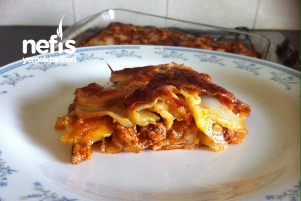 Patatesten Kıymalı Çok Kolay Lazanya Tarifi