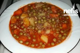 Kıymalı Sebzeli Bezelye Yemeği Tarifi