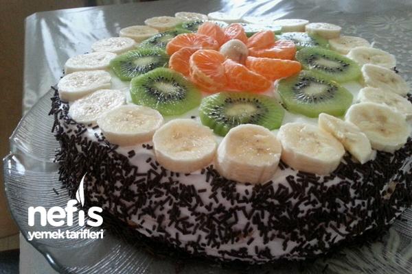 Meyveli Yaş Pasta (Leziz Ve Kolay) Tarifi