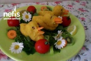 Zerdeçallı Zencefili Patetesten Ördek Salatası Tarifi