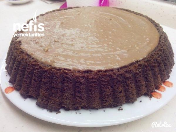 Çikolata Muhallebili Tart Kek