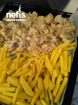 Fırında Karnıbahar Patates Kızartması