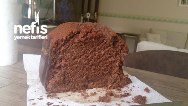 Ekmek Makinesinde Veya Fırında Küçük Kapta Kakaolu Pratik Kek