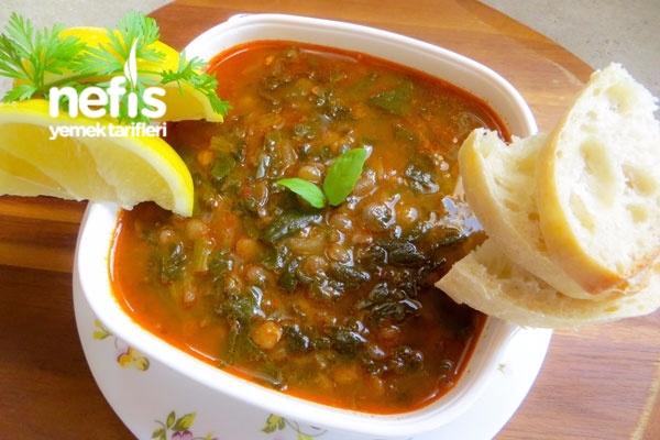 Yeşil Mercimekli Ispanak Çorbası Tarifi