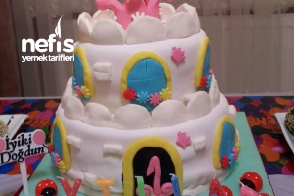 Şeker Hamurlu Kızımın Doğum Günü Pastası Tarifi