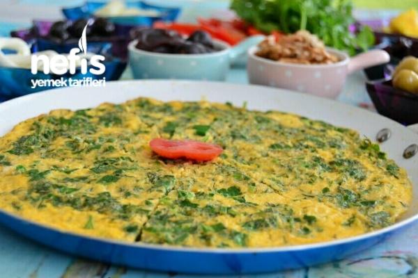 Yeşil Soğanlı Omlet