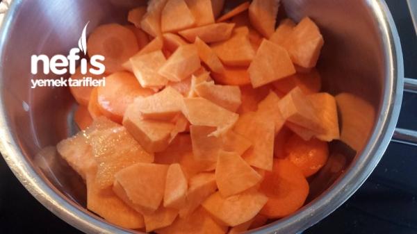 Havuçlu Tatli Patatesli Bebek Çorbası + 6ay
