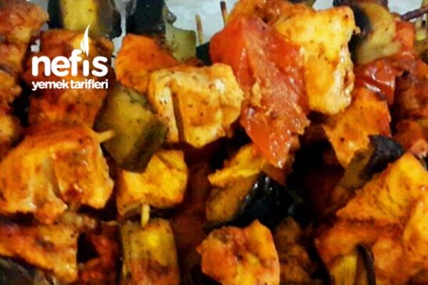 Patlıcanlı Tavuk Şiş Tarifi