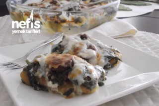 Patates Püreli Beşamel Soslu Fırında Ispanak Tarifi