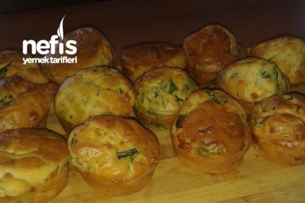 Ispanaklı Peynirli Muffin Tarifi
