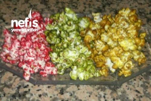 Renkli şekerli Patlamış Mısır Nefis Yemek Tarifleri