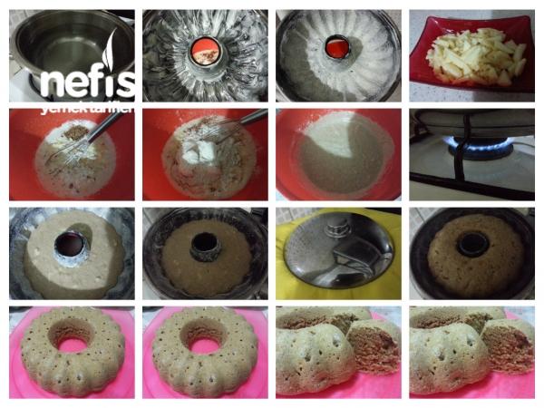 Tencerede;elmalı,cevizli;tarçınlı;tam Buğday Unu Keki (diyet) :)