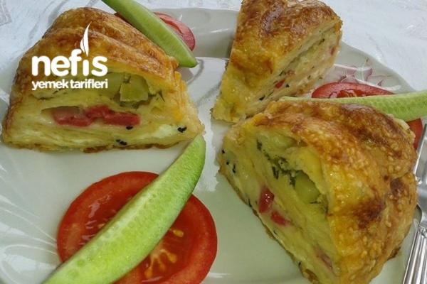 Kek Kalıbında Börek Tarifi (Bol Malzemeli)