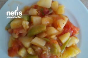 Patates Kavurması (Domatesli Biberli Soğanlı) Tarifi