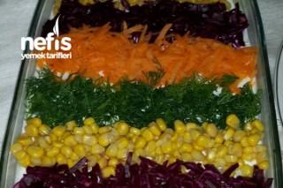 Gökkuşağı Patates Salatası Tarifi